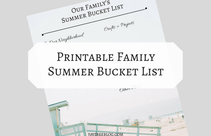 Summer Bucket List (+ a printable template for you!)