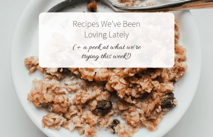 Recipes We've Been Loving Lately (+ a peek at what we're trying this week!)