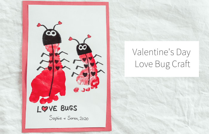 Valentine's Day Love Bug Footprint Craft