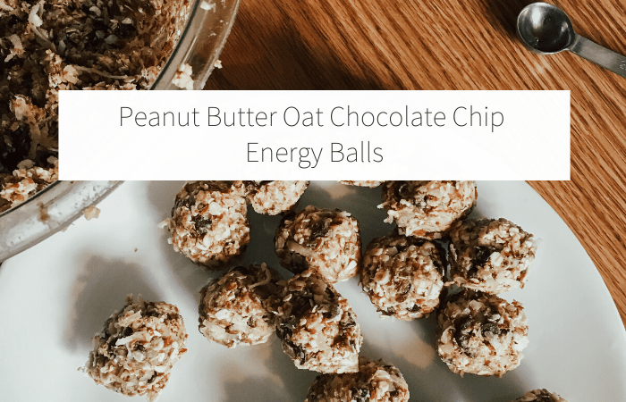 Peanut Butter Oat Chocolate Chip Energy Balls