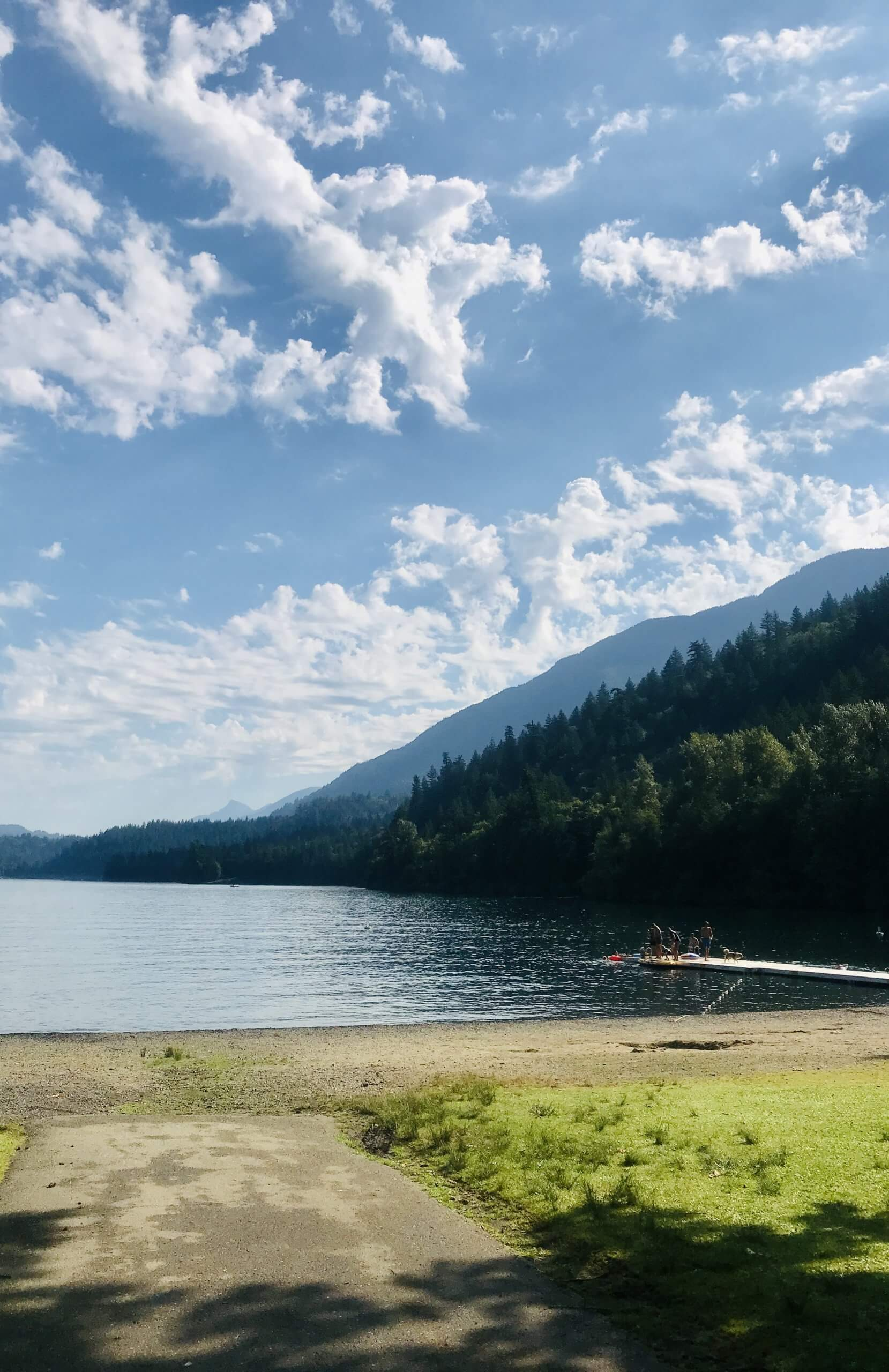 View of the lake and mountains at Cultus Lake in Chilliwack