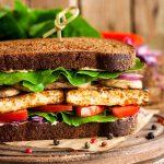 Vegan sandwich with tofu