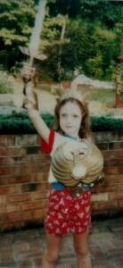 Picture of Kathryn Hively, age 4, dressed as She-Ra