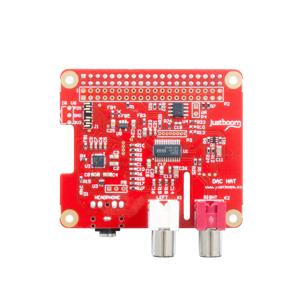 Justboom Dac Hat For The Raspberry Pi Ra53 Stereo Headphone Amplifier Connection Schematic
