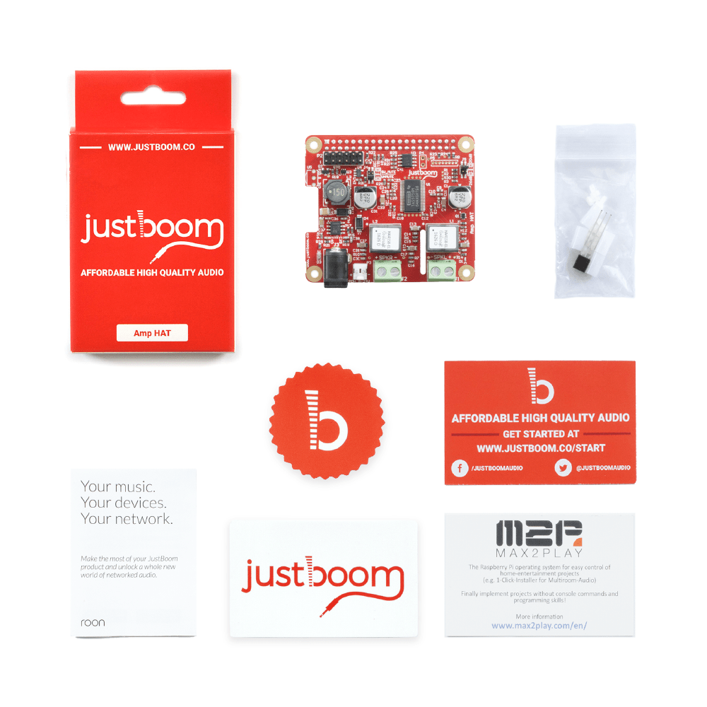 Unpack your JustBoom Amp ...
