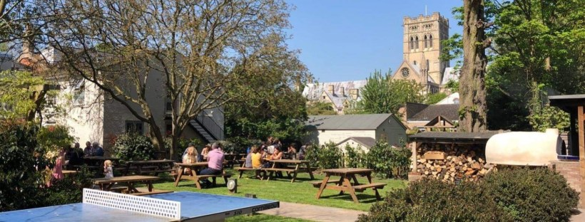 The Georgian townhouse beer garden