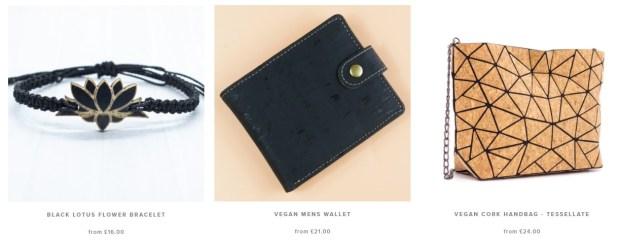 lotus flower bracelet_wallet_vegan cork handbag