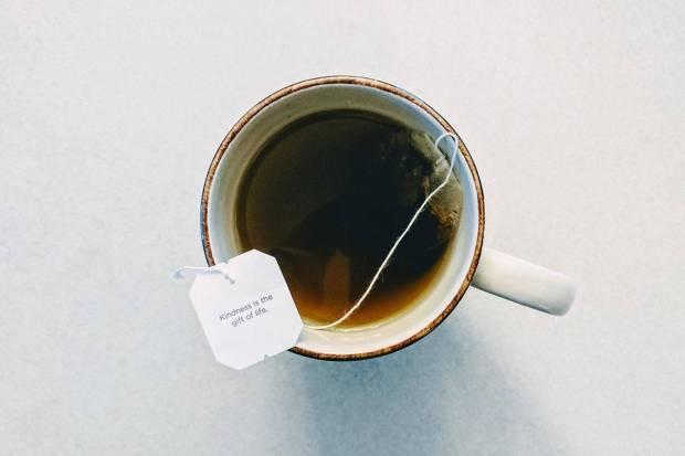 tea bag in mug
