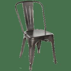 Chair And Steel Herman Miller Aeron Chairs Galvanized Gunmetal Side