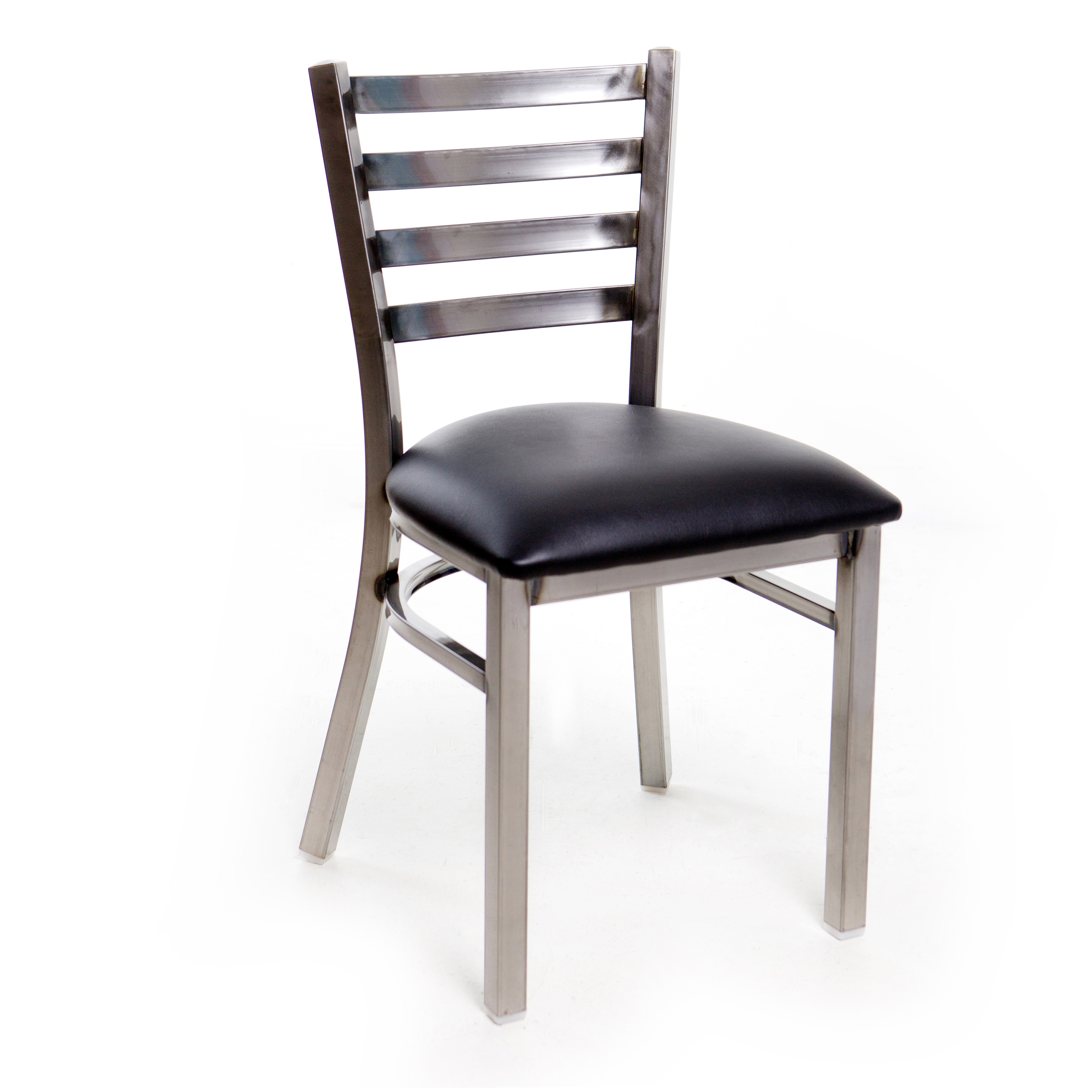 Restaurant  Metal Ladder Back Chair  Clear Coat