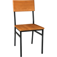 Chairs : Metal Rustic Wood Chair