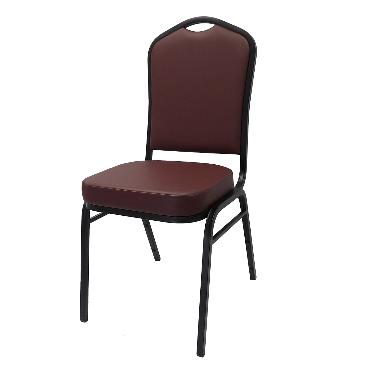 Metal Stacking Square Back Banquet Chair