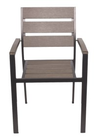 Outdoor Chairs : Polywood/Aluminum Outdoor Arm Chair