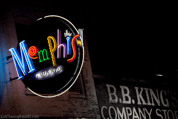 A Neon Night on Beale Street in Memphis, Tennessee