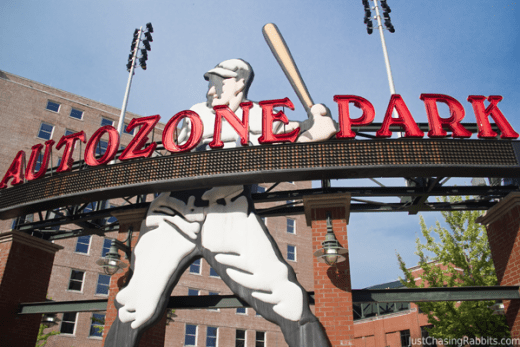 Memphis Redbirds Game at Autozone Park in Memphis, Tennessee