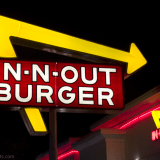 In-N-Out Burger sign at night