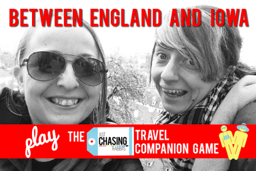 Between England and Iowa play the JCR Travel Companion Game
