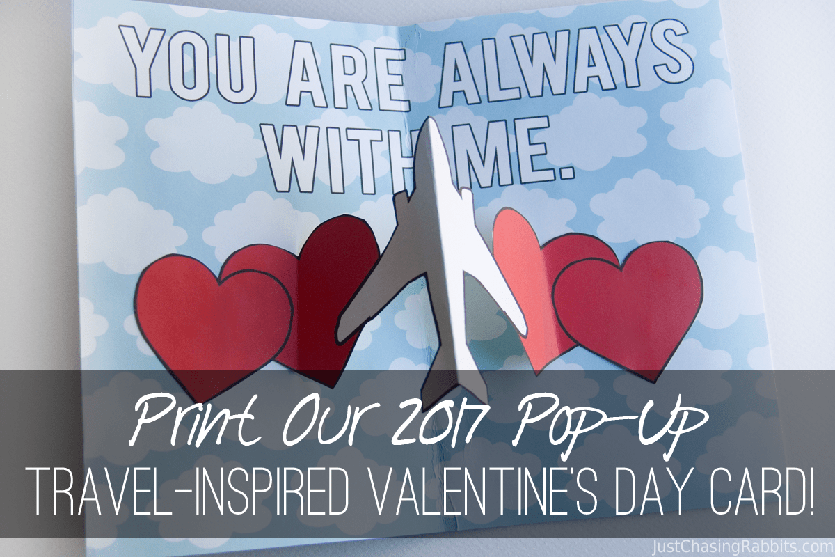 Print Our 2017 Pop-Up Travel-Inspired Valentine's Day Card!