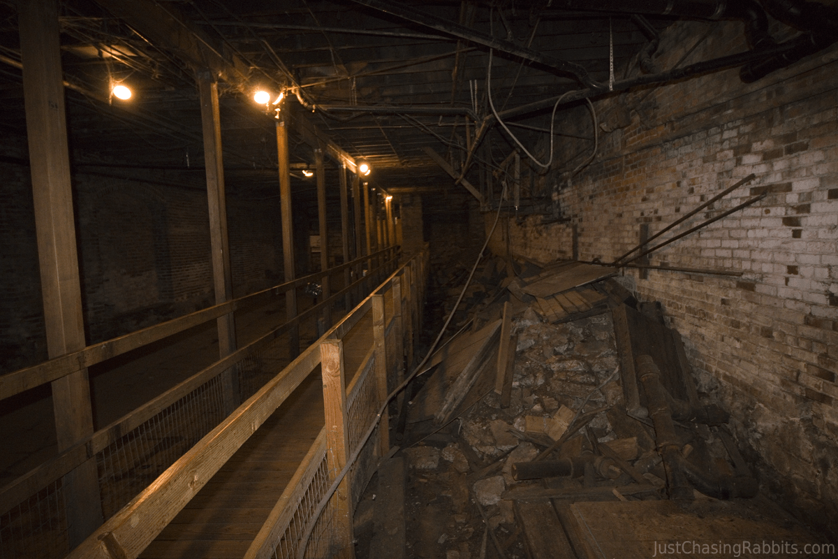 Seattle Underground Tour Walkway
