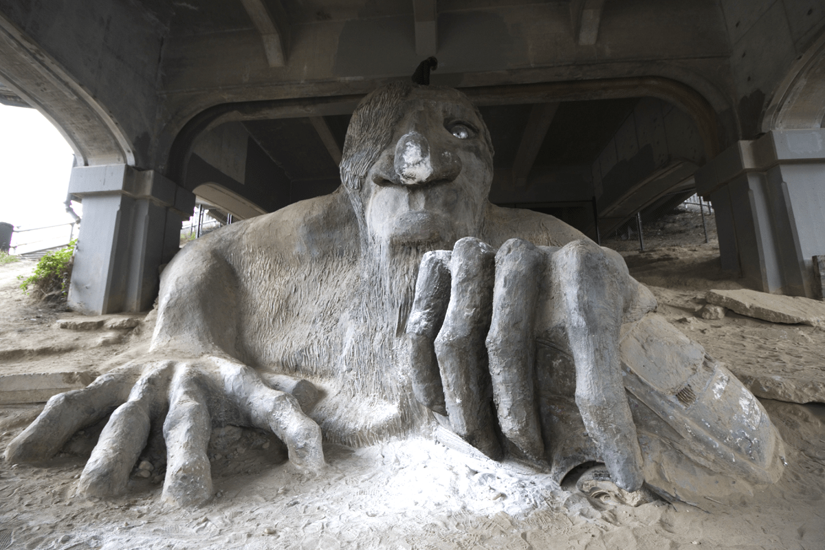 The Fremont Troll Lives Under a Bridge in Seattle