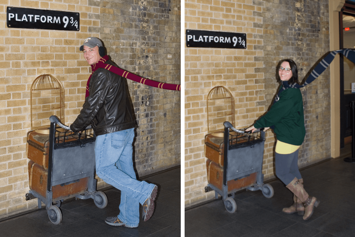 The Platform 9 3/4 Photo Op at King's Cross Station London