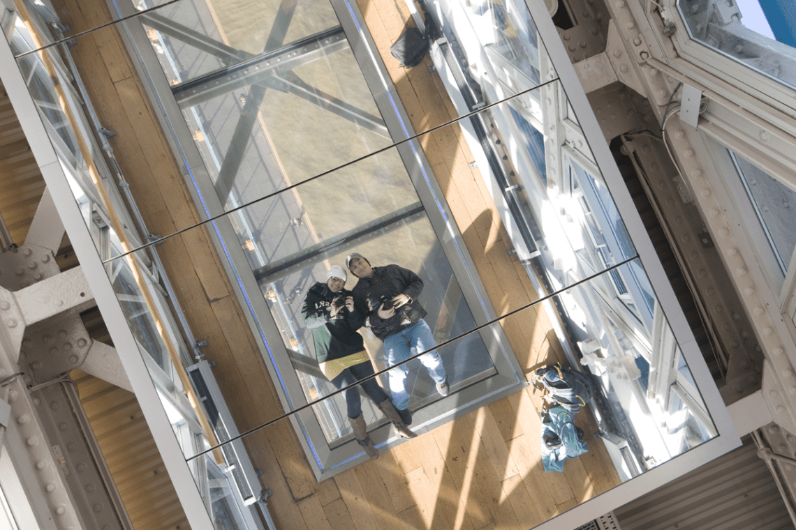 Tower Bridge Glass floor and mirrored ceiling