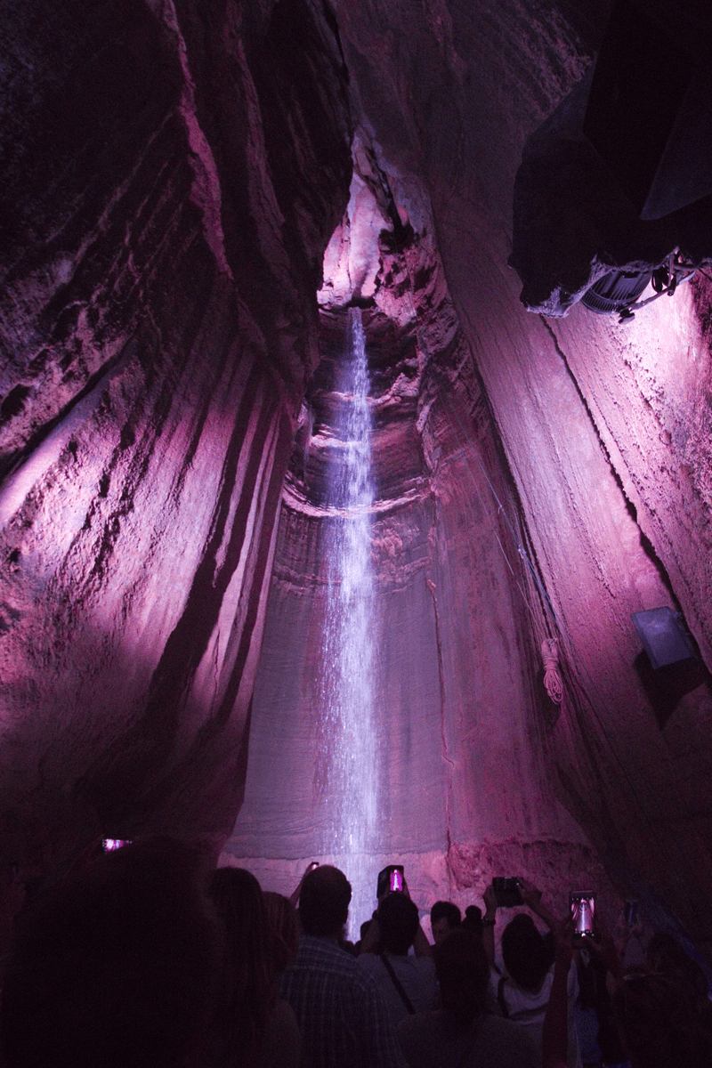 Ruby Falls underground waterfall lookout mountain