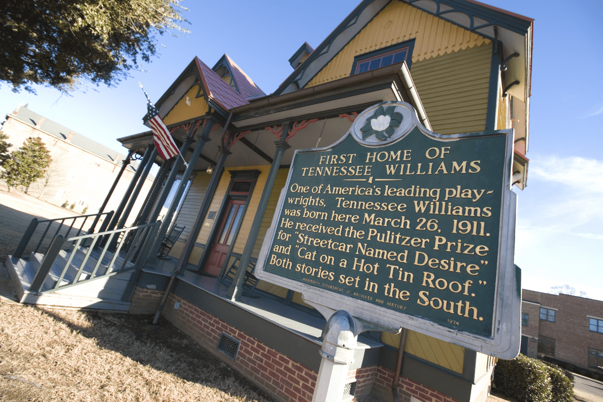 8 Things To Do in Columbus, Mississippi including visiting the first home of Tennessee Williams