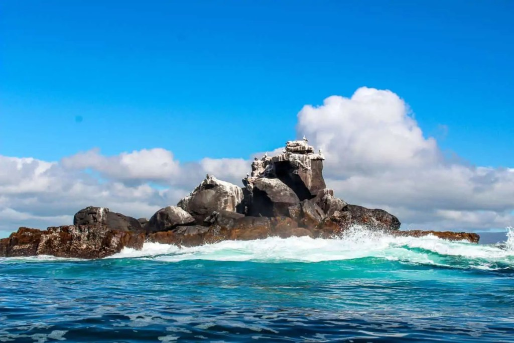 Lava Rock in the Middle of the Ocean