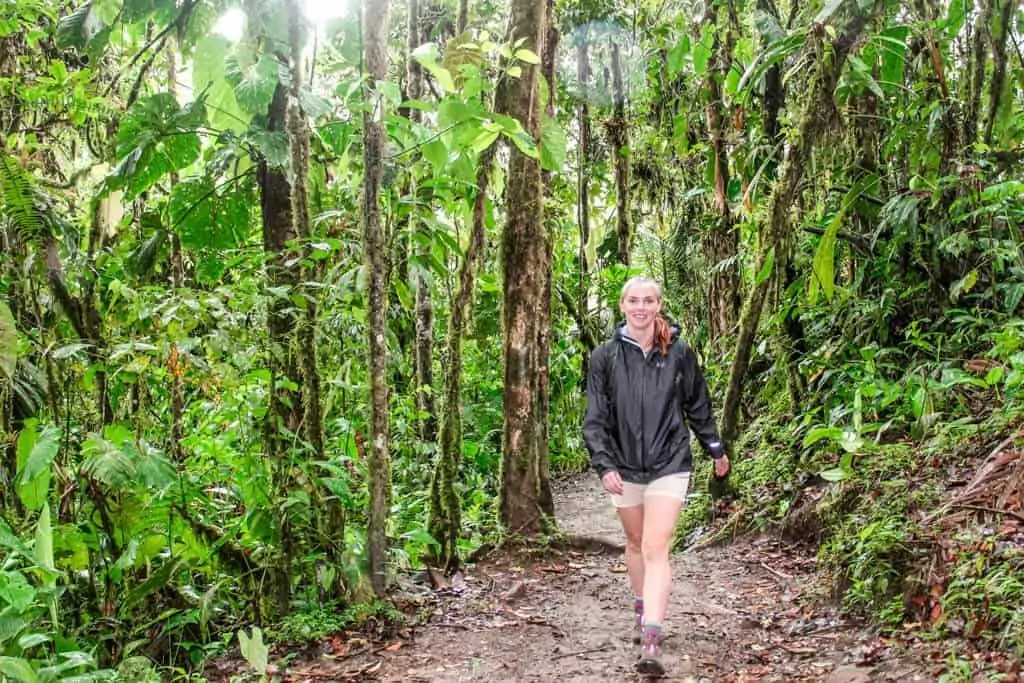 me walking in the mindo cloud forest, ecuador