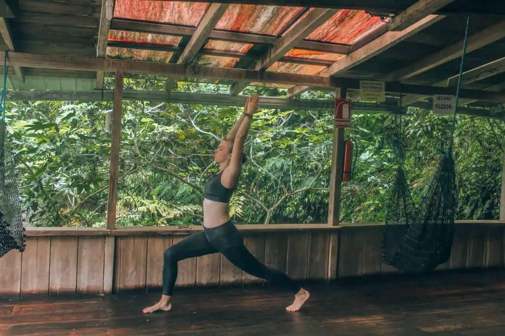 yoga in Mindo, Ecuador