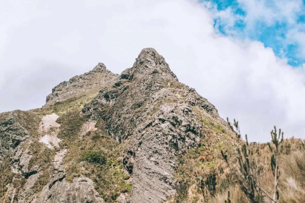 the Pichincha peak