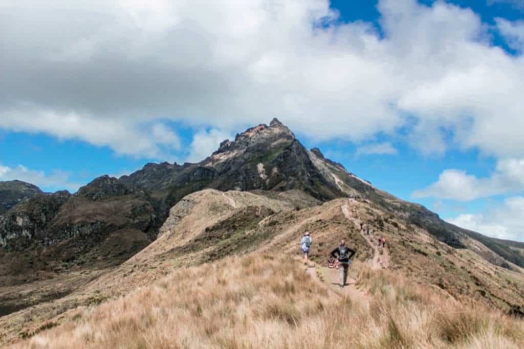 The Road to the Pichincha volcano