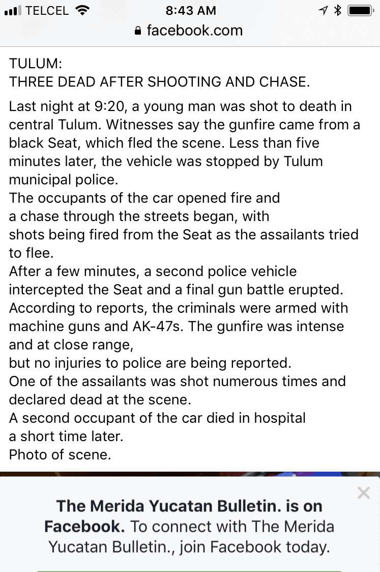 The Only news article i found about the shooting
