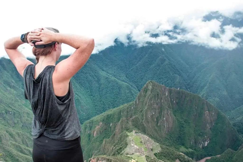 View of Machu Picchu from Machu Picchu Mountain