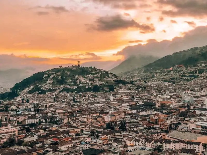 Quito Sunset from Itchimbia