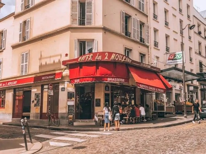 cafe from Amelie movie in Montmartre Paris