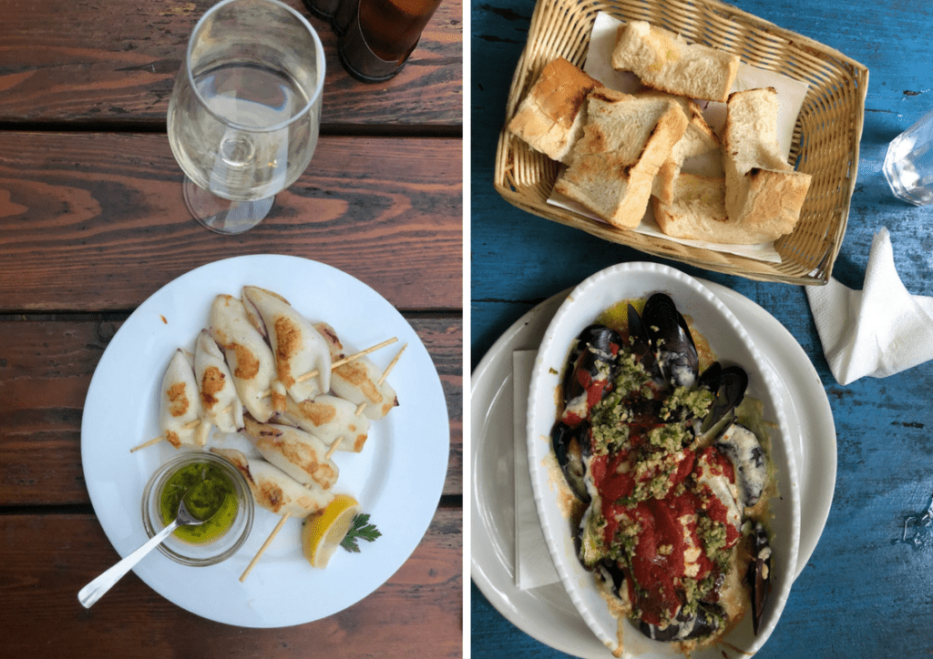 seafood in Piran Slovenia