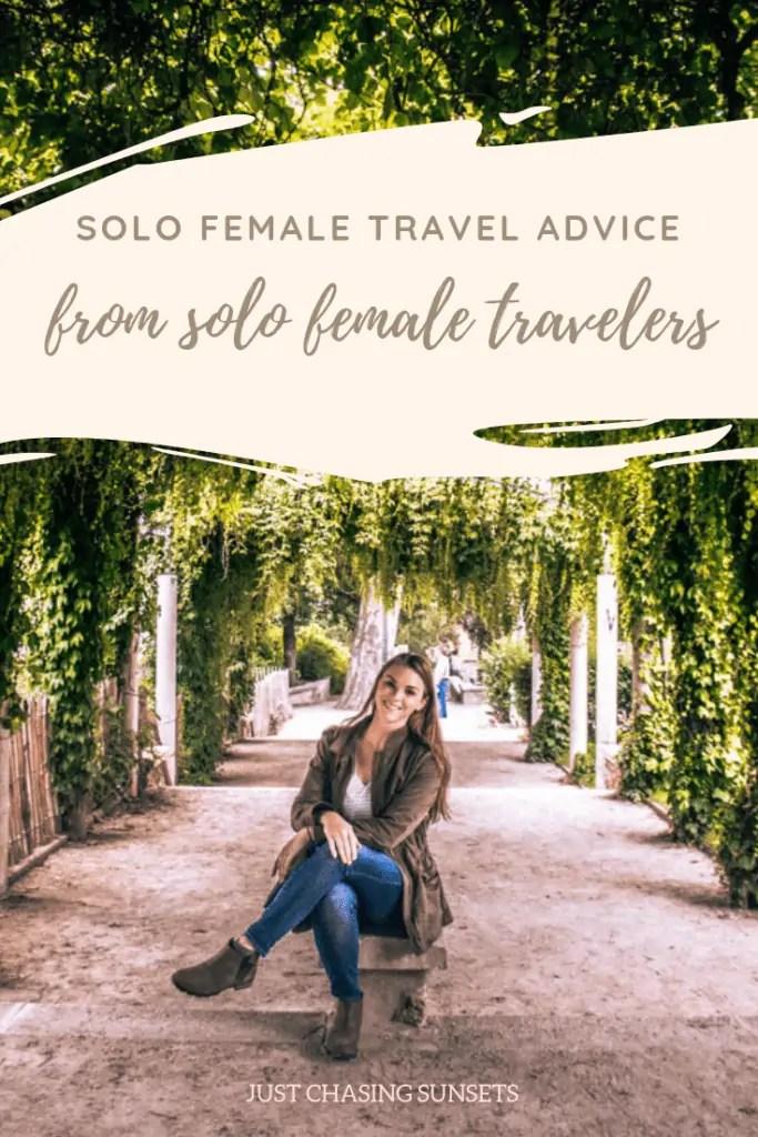 solo female travel advice pinterest image