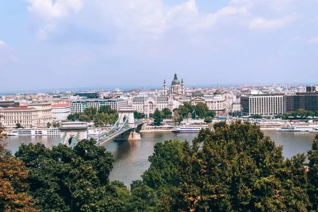 view of pest from buda castle