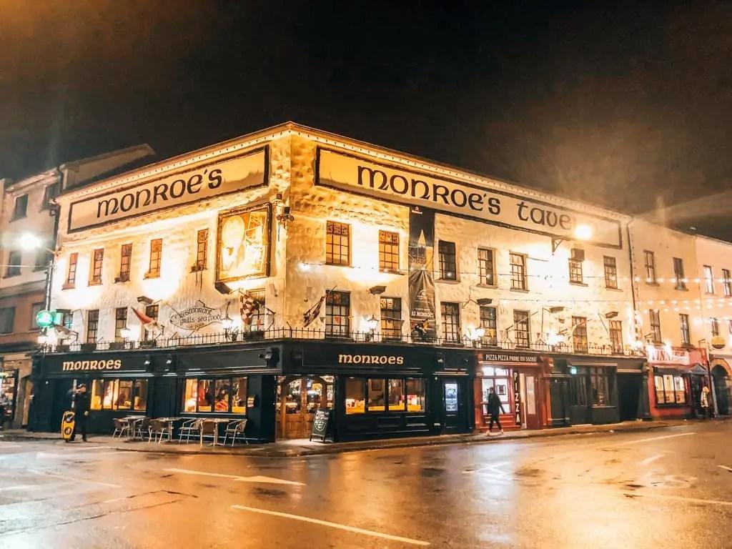 Monroe's Pub at Night Galway