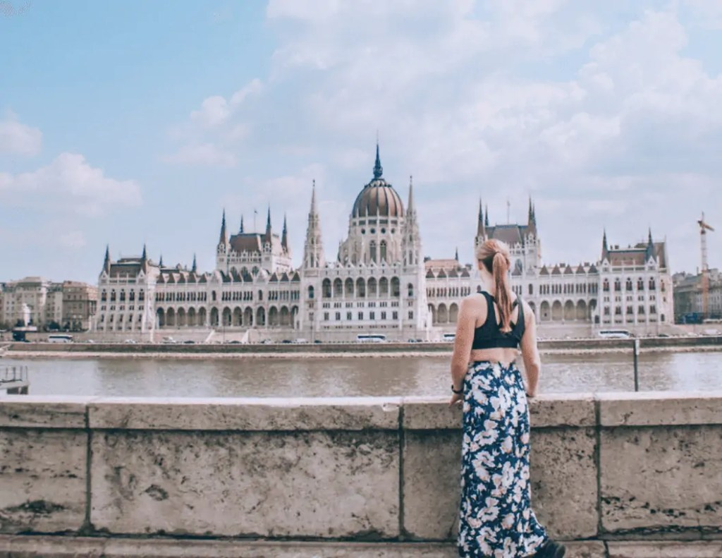 Hungary's Parliament Building as seen from buda