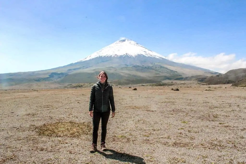 me in front of cotopaxi