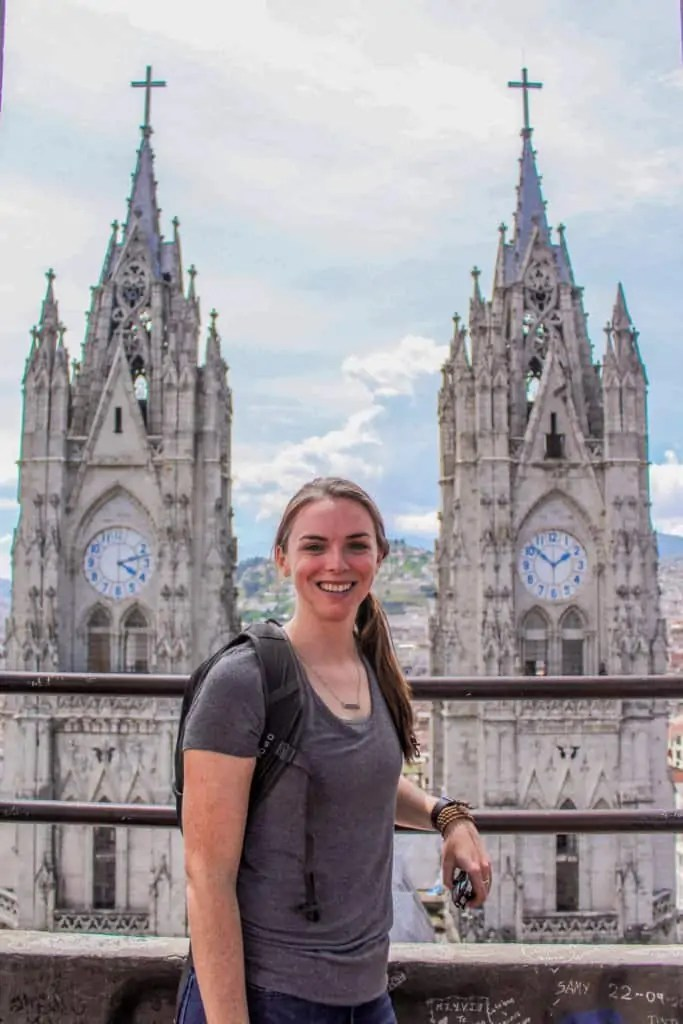 Me at the top of the Basilica del Voto Nacional