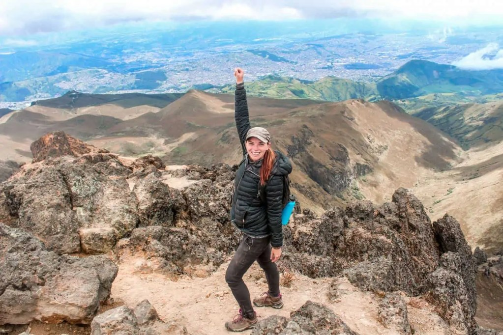 Me on the top of the Pichincha volcano in Quito