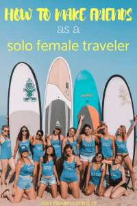 how to make friends as a solo female traveler