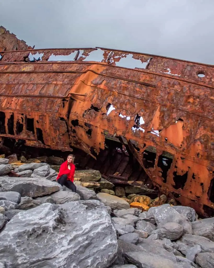 me in front of a shipwreck