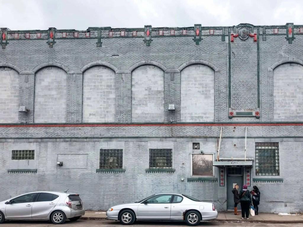the exterior of the schvitz, detroit