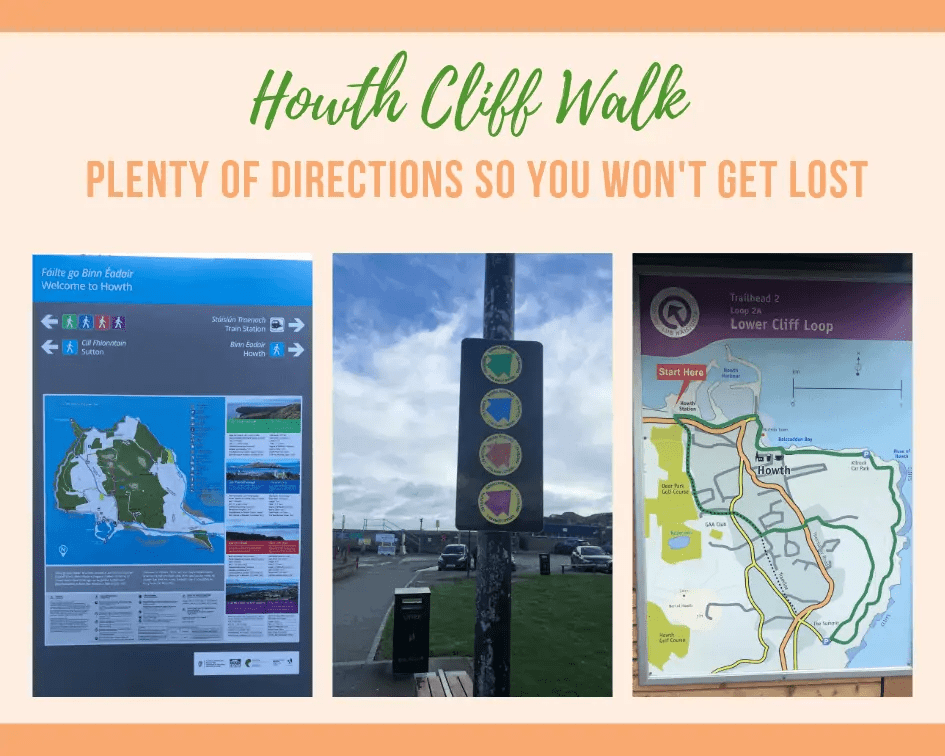howth cliff walk route directions