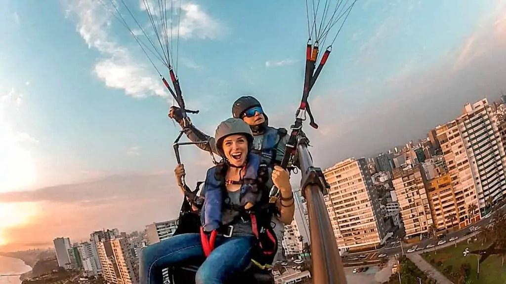 Paraglide in Miraflores Lima Peru